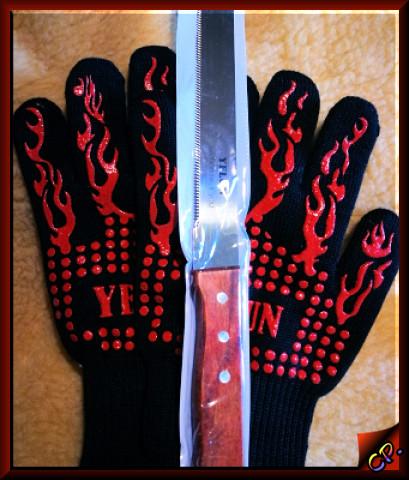 Yelun - Grillhandschuhe Ofenhandschuhe Komple30