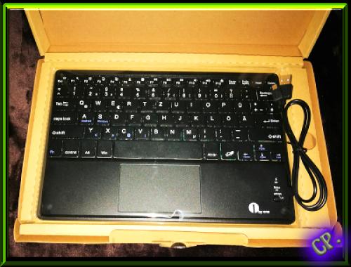 1byone Drahtlose Bluetooth QWERTZ  Tastatur und Multi Touchpad Offene56