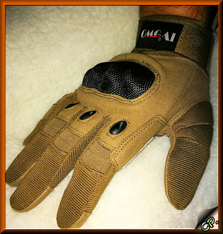 OMGAI Männer Volle Finger Handschuhe Kamel Weiter17