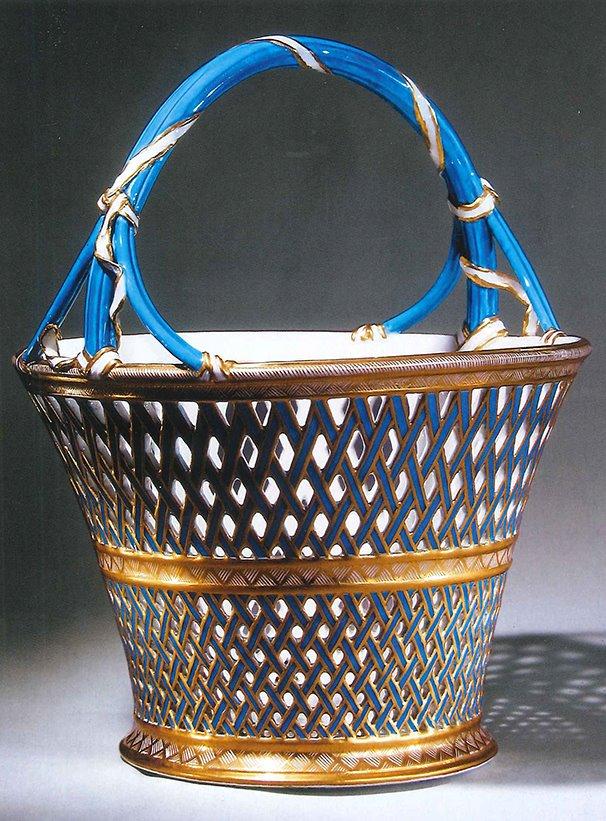 Panier à anse en porcelaine de Vincennes  Wallac10