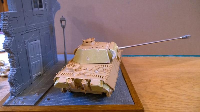 PanzerV Panther G Late Tamiya et maison ruine Mini Art 1/35e Wp_20124