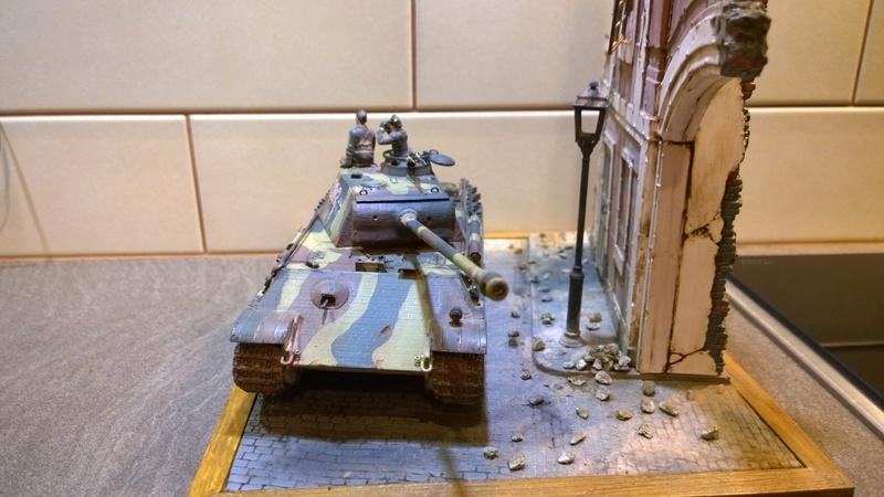 PanzerV Panther G Late Tamiya et maison ruine Mini Art 1/35e Wp_20126