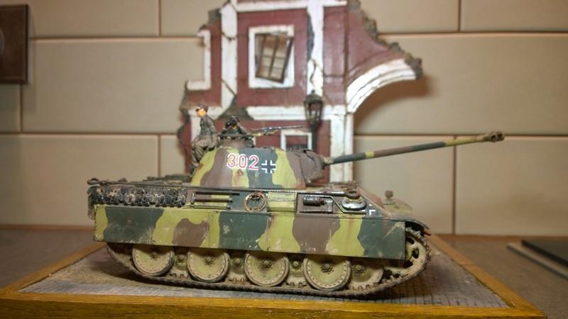 PanzerV Panther G Late Tamiya et maison ruine Mini Art 1/35e Wp_20128