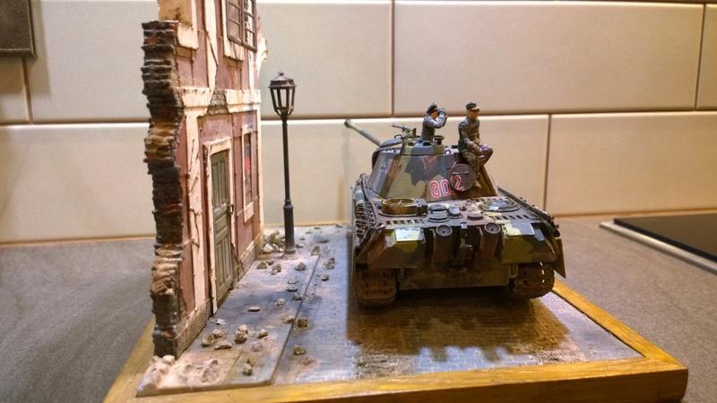 PanzerV Panther G Late Tamiya et maison ruine Mini Art 1/35e Wp_20129