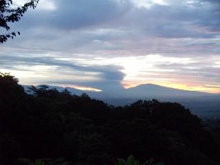 Volcano erupts sending rocks and ash 4km high. 100b4110