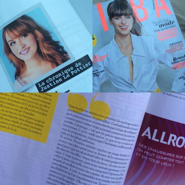 [Magazine] Justine Le Pottier écrit une chronique dans BIBA 14064110