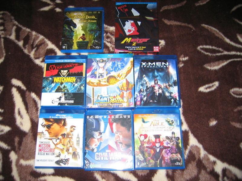 Les DVD et Blu Ray que vous venez d'acheter, que vous avez entre les mains Img_0036