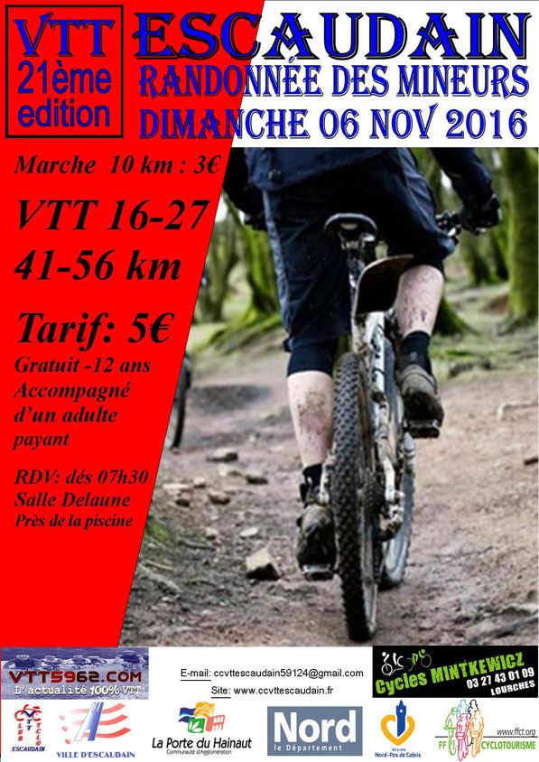 Randonnée des Mineurs 06 / 11 / 2016- Escaudain (59) Vtt_es10