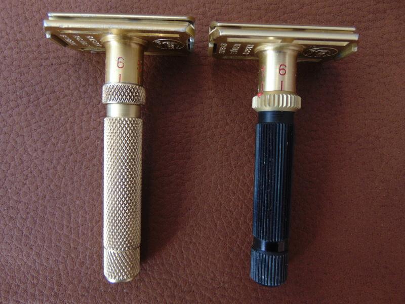 Rasoir GIBBS 15 réglable manche bronze Dsc04618