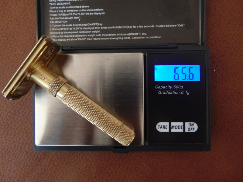 Rasoir GIBBS 15 réglable manche bronze Dsc04620