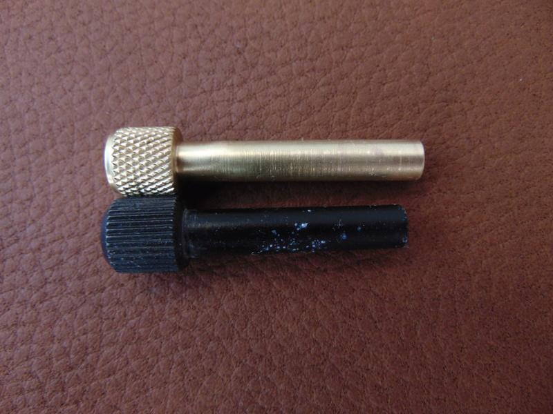 Rasoir GIBBS 15 réglable manche bronze Dsc04624