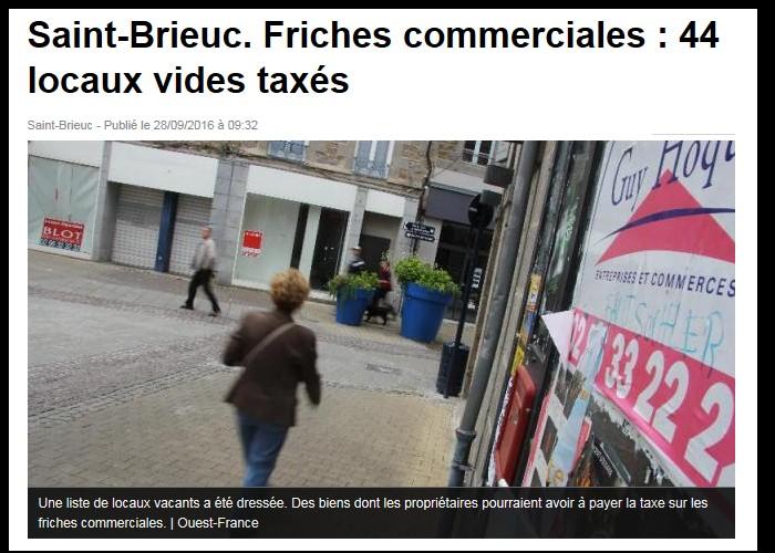 Saint-Brieuc. Friches commerciales : 44 locaux vides taxés  Sans_209
