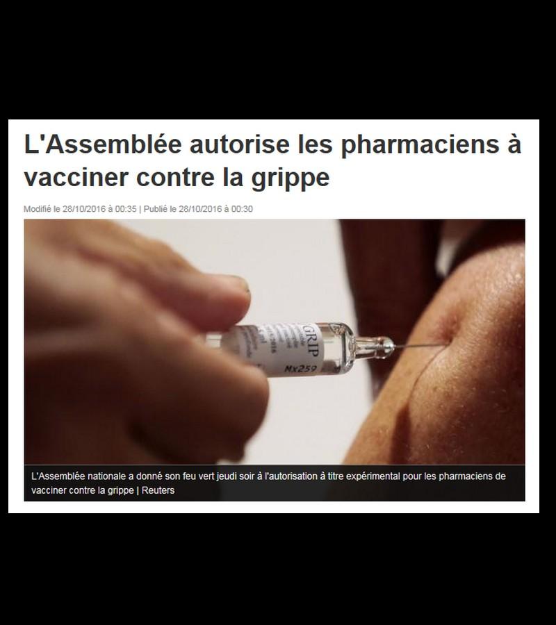 L'Assemblée autorise les pharmaciens à vacciner contre la grippe Sans_439