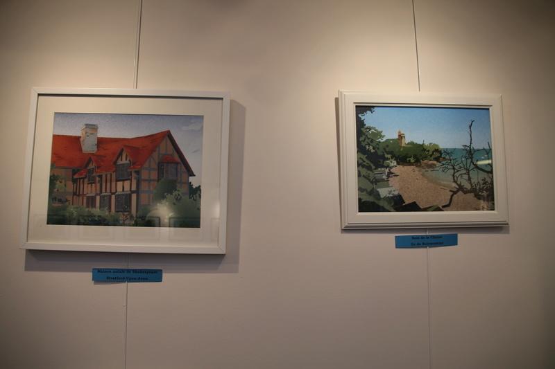 Exposition des sables et tableaux et vidéo de la télé belge Expo_310