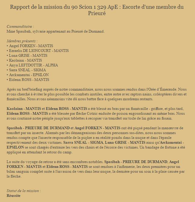 [HRP] Point Méthode : Rapport de mission Rappor10