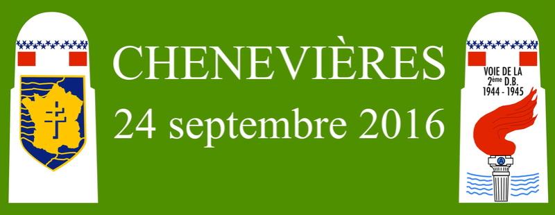 Borne du serment de Koufra: CHENEVIÈRES (54) Bandea11