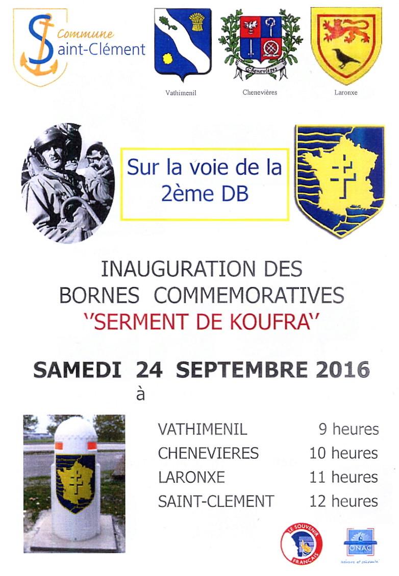 Borne du serment de Koufra: CHENEVIÈRES (54) Lorrai11