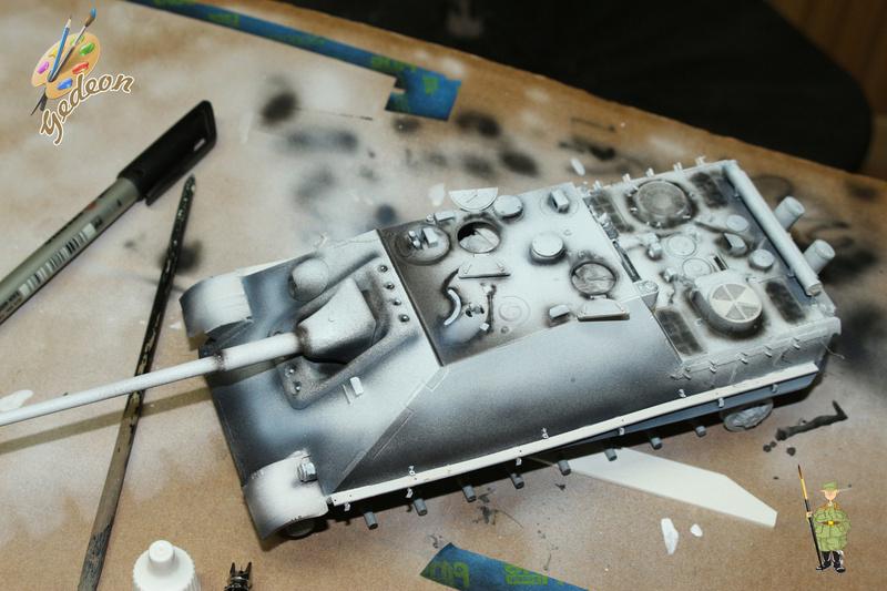 Jagdpanther Sd.Kfz.173 – 1/35ème Dragon - Equipage terminé 1_debu16
