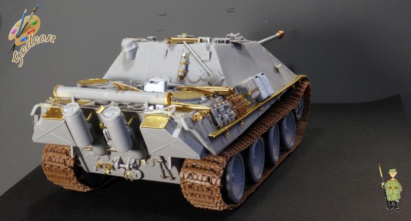 Jagdpanther Sd.Kfz.173 – 1/35ème Dragon - Equipage terminé 1_mont10