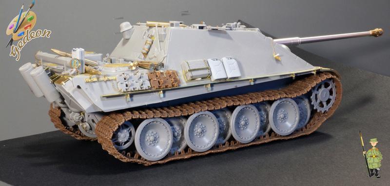 Jagdpanther Sd.Kfz.173 – 1/35ème Dragon - Equipage terminé 1_mont11