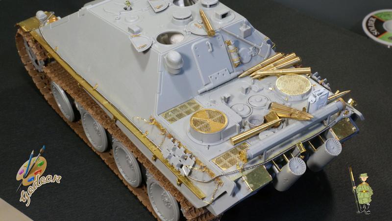 Jagdpanther Sd.Kfz.173 – 1/35ème Dragon - Equipage terminé 1_mont13