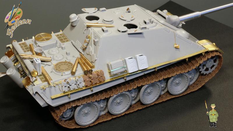 Jagdpanther Sd.Kfz.173 – 1/35ème Dragon - Equipage terminé 1_mont14
