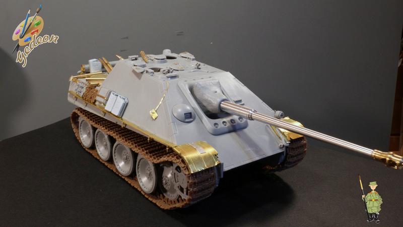 Jagdpanther Sd.Kfz.173 – 1/35ème Dragon - Equipage terminé 1_mont15