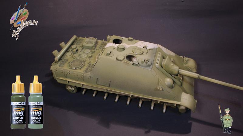 Jagdpanther Sd.Kfz.173 – 1/35ème Dragon - Equipage terminé 2_pein10