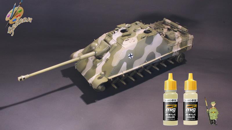 Jagdpanther Sd.Kfz.173 – 1/35ème Dragon - Equipage terminé 3_camo11