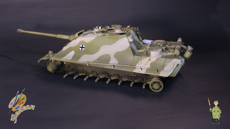Jagdpanther Sd.Kfz.173 – 1/35ème Dragon - Equipage terminé 3_camo13
