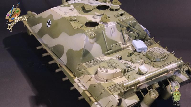 Jagdpanther Sd.Kfz.173 – 1/35ème Dragon - Equipage terminé 3_camo14