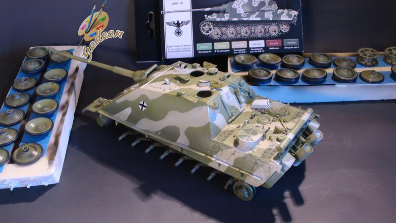 Jagdpanther Sd.Kfz.173 – 1/35ème Dragon - Equipage terminé 3_camo15