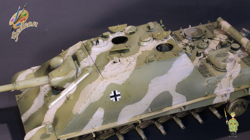 Jagdpanther Sd.Kfz.173 – 1/35ème Dragon - Equipage terminé 4_micr14