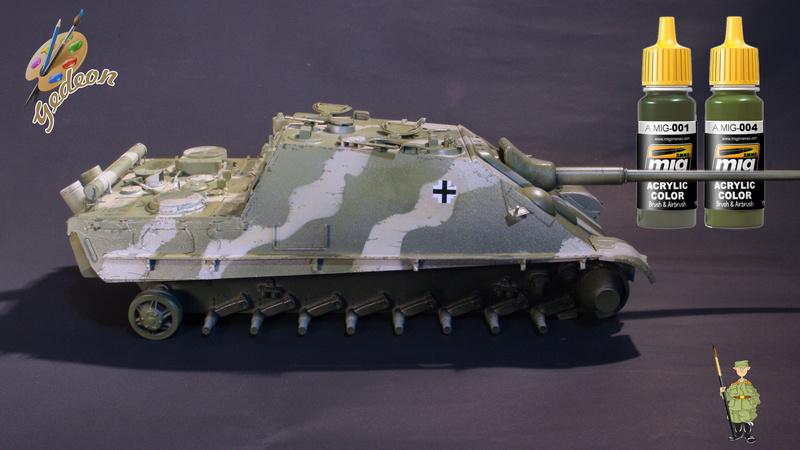 Jagdpanther Sd.Kfz.173 – 1/35ème Dragon - Equipage terminé 4_micr15