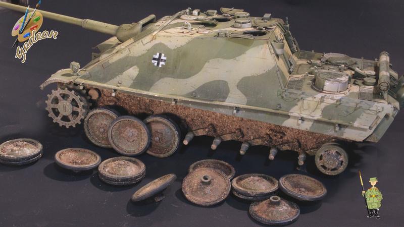 Jagdpanther Sd.Kfz.173 – 1/35ème Dragon - Equipage terminé - Page 3 8_trai21