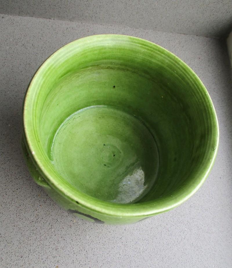 Old Slipware? Green Glaze Small Black Circles Img_0721