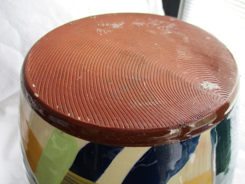 Large Ovoid Vase. Sweeping Colour Brush Decoration- ID Please Img_0725