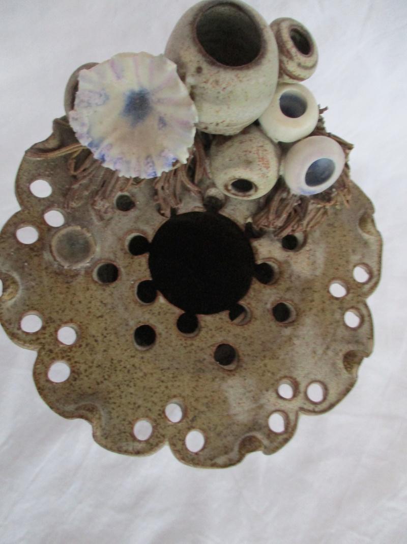 Cylinder vase Flat Rim Decorated With Urchins - John Brooke Steele Img_0927