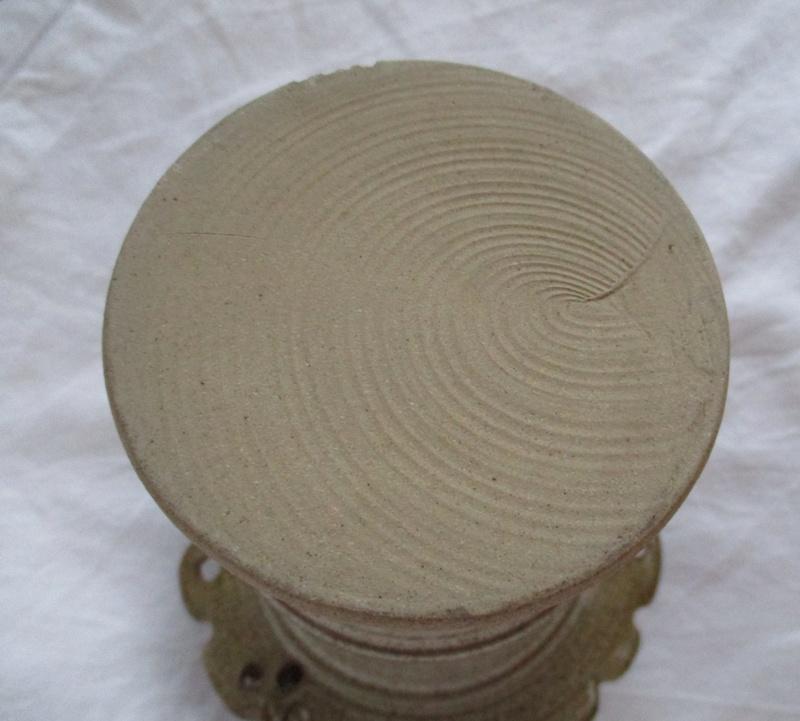 Cylinder vase Flat Rim Decorated With Urchins - John Brooke Steele Img_0928