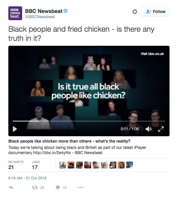 BBC's Newsbeat Asked If Black People Like Fried Chicken In 'Unbelievably Racist' Tweet - Page 2 Img_5310