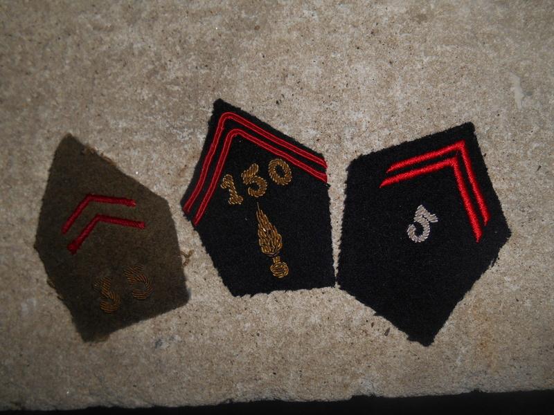 Lot de 3 pattes de col infanterie et cuirassier -ESC 1 - BAISSE Dscn0520