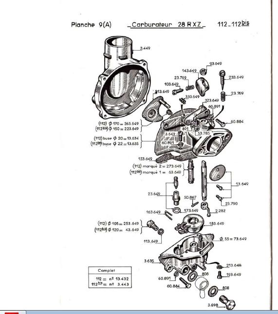 Bernard - calage allumage moteur bernard w 112 28_rxz13