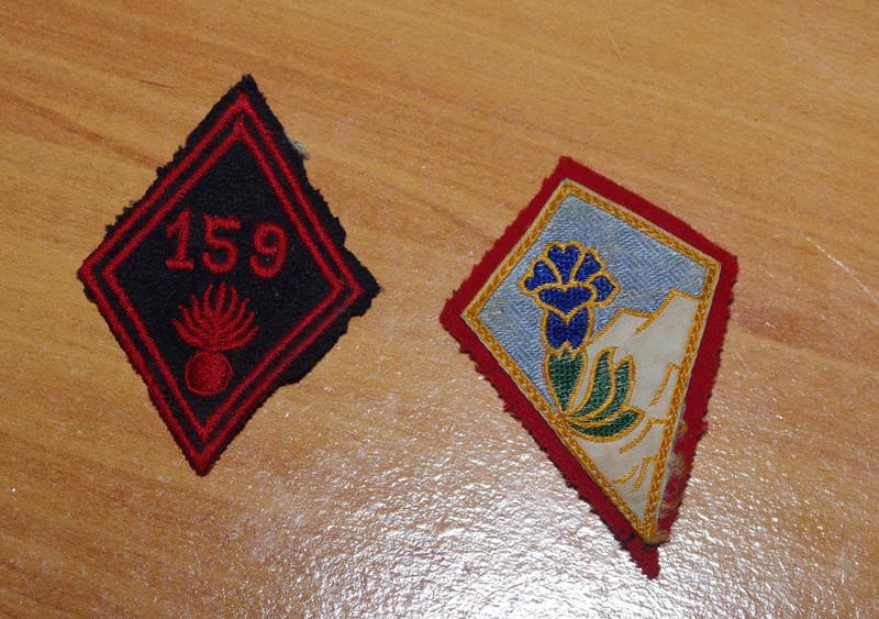 Insigne tissu 159 RIA et 27 DIA- ESC 3 A CLOTURER Ik5m7043