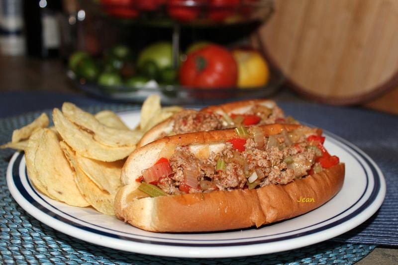 Pain (hot-dog) fourrés au veau haché et au poivron rouge 1img_899