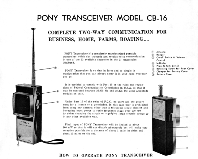 Pony CB 16 (Portable) Pony_c10