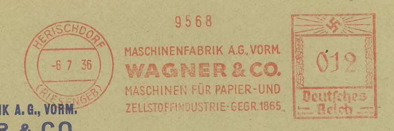 1945 - Freistempel / Absenderfreistempel Deutsches Reich (bis 1945) Herisc10