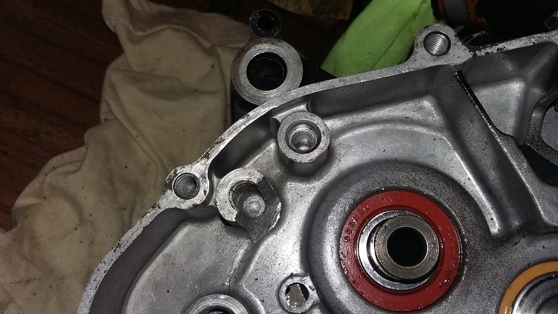 Réparation carter moteur alu cassé 20161010
