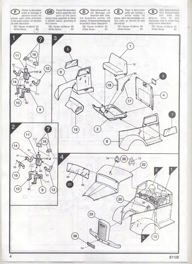 OPEL BLITZ 1/35 REF : 81128 - NOTICE  Maquet14