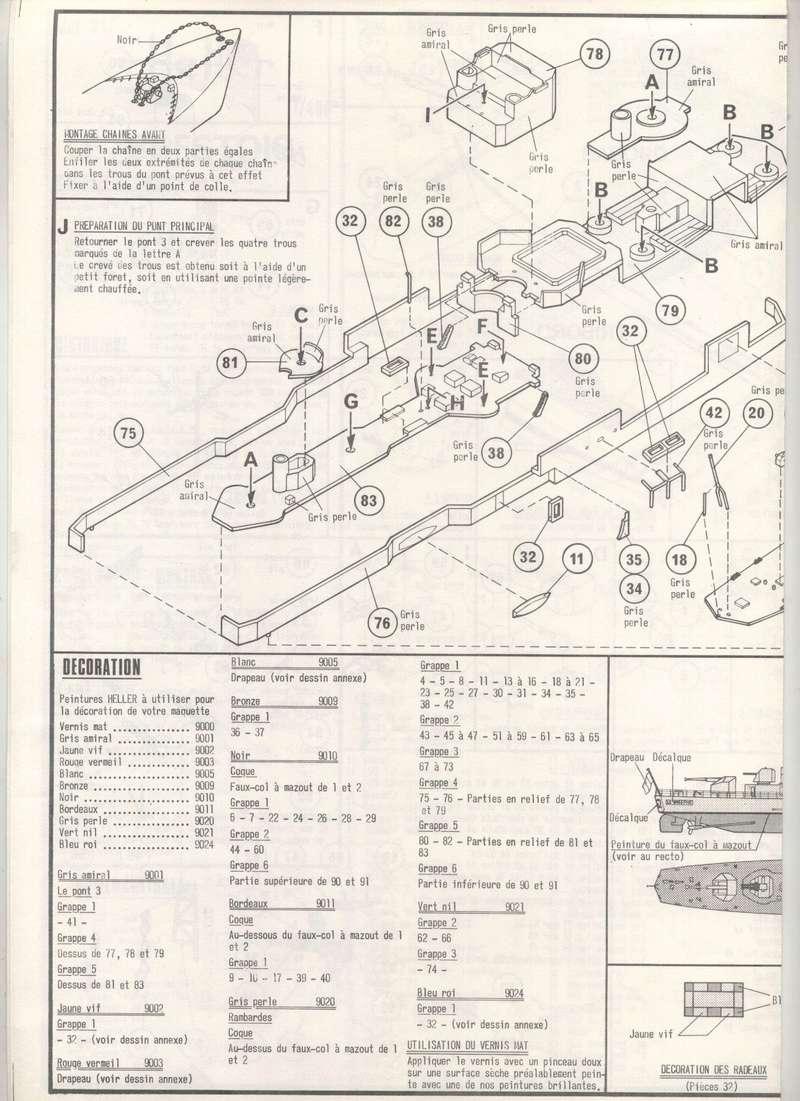Escorteur rapide Type E 50 LE BRESTOIS 1/400ème Réf 547 Notice Maquet45