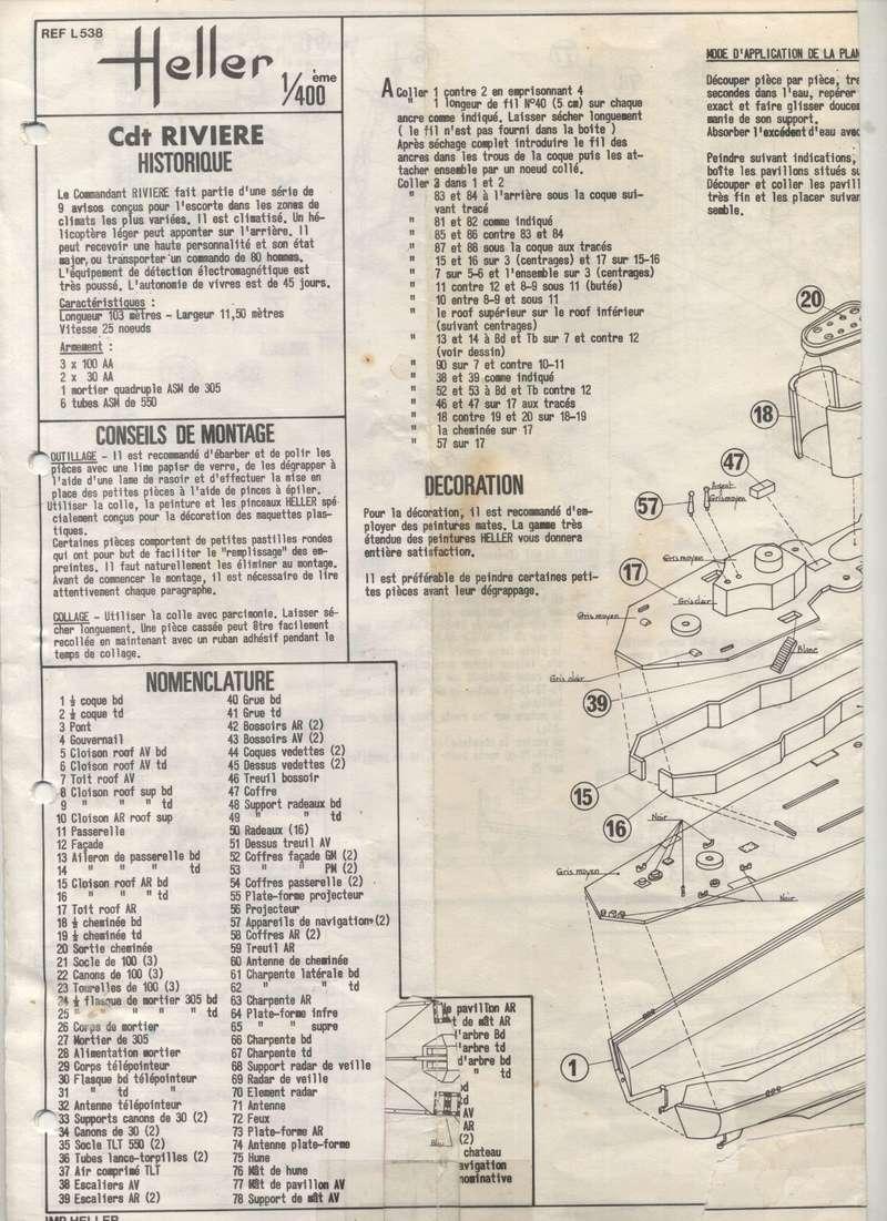 AVISO COMMANDANT RIVIERE - HELLER - 1/400 - REF : L 538 - NOTICE  Maquet50
